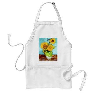 Three Sunflowers by Van Gogh Fine Art Standard Apron