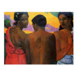 'Three Tahitians' - Paul Gauguin Postcard