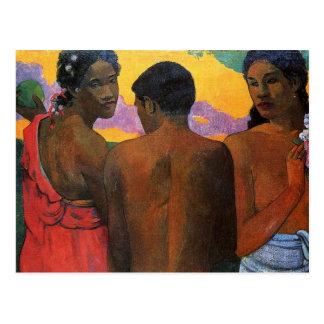 'Three Tahitians' - Paul Gauguin Postcard