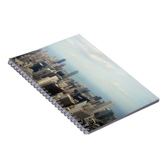 Three Tall Buildings Viewed From Sears Tower Spiral Notebooks
