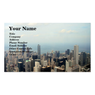 Three Tall Buildings Viewed From Sears Tower Pack Of Standard Business Cards