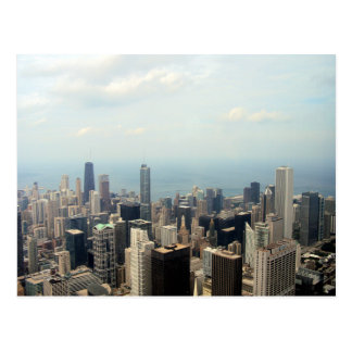 Three Tall Buildings Viewed From Sears Tower Postcard