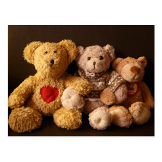 Three Teddy Bears Postcard