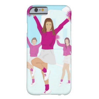 Three teenage cheerleaders holding pom poms 2 barely there iPhone 6 case
