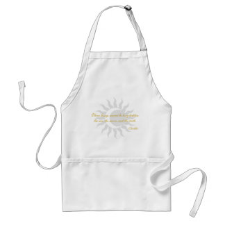 Three Things Cannot Be Long Hidden Buddha Quote Standard Apron