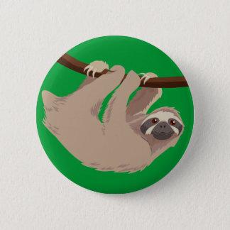 Three Toed Sloth 6 Cm Round Badge