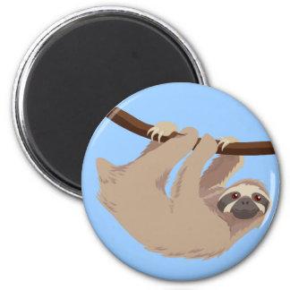 Three Toed Sloth 6 Cm Round Magnet