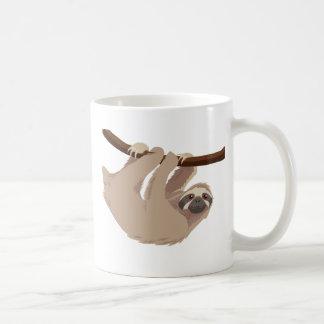 Three Toed Sloth Basic White Mug
