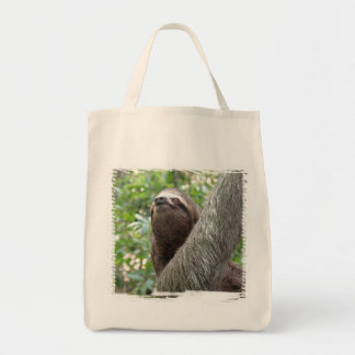 Three Toed  Sloth Grocery Tote Bag