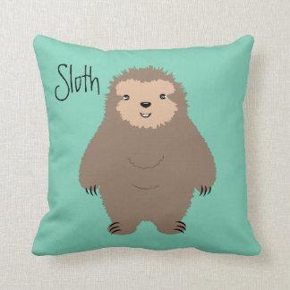 Three Toed Sloth Illustration Cushion