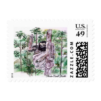 Three-Toed Sloth Stamps