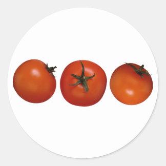 Three Tomatoes Classic Round Sticker