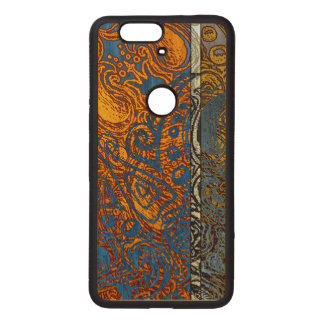 Three Tone Blue Jean Swirl Wood Nexus 6P Case