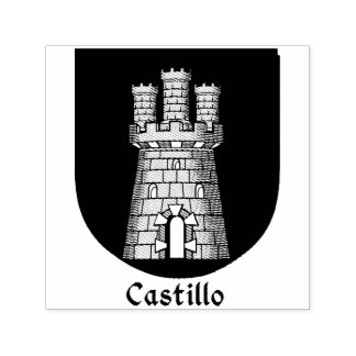 Three Tower Turret Castillo Spanish Surname Self-inking Stamp