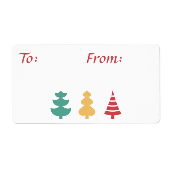 Three Tree Gift Labels