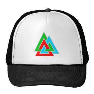 Three triangles three triangles mesh hat