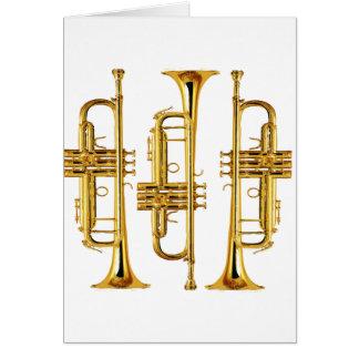 Three Trumpets Greeting Card