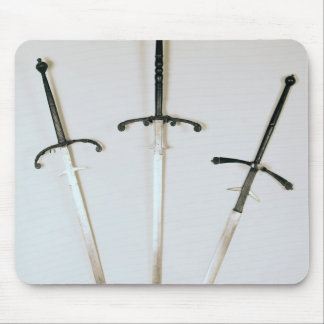 Three two-handed swords 1570 mousepad