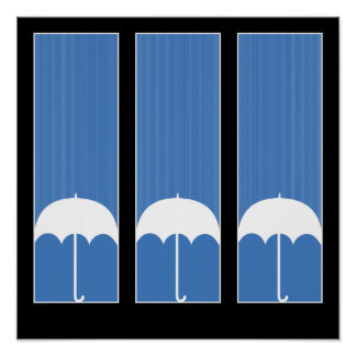 Three Umbrellas Poster