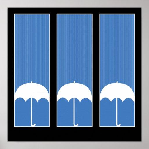 Three Umbrellas Print