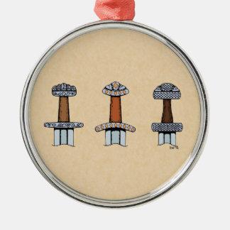 Three Viking Sword Hilts Ornament