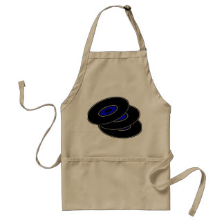 Three Vinyl Records Apron