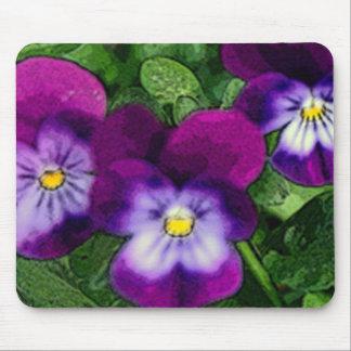 Three Violets Mousepad
