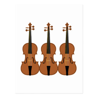 Three Violins Post Card