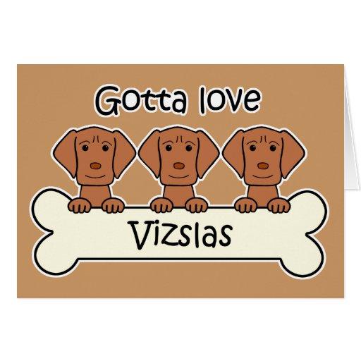 Three Vizslas Cards