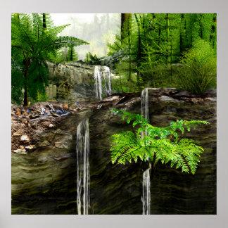 Three Water falls Poster