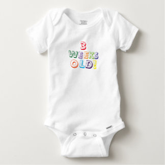 three weeks old cute baby one piece shirts