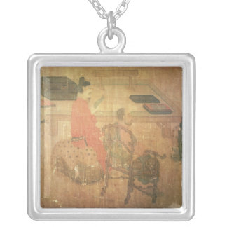 Three Well-Read Men from Lieou-Li T'ang Silver Plated Necklace