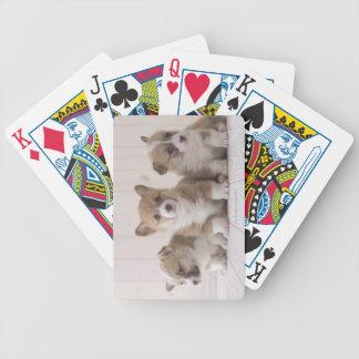 Three Welsh Corgi Bicycle Playing Cards