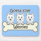 Three Westies Mouse Mat