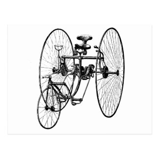 Three Wheel Bicycle Tricycle Postcard