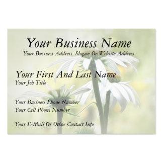 Three White Coneflowers Business Card