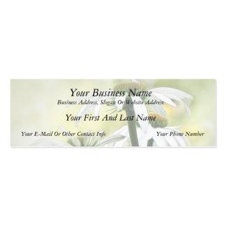 Three White Coneflowers Business Cards