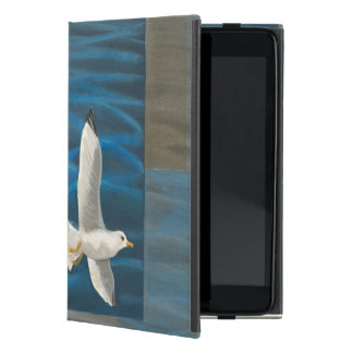 Three White Seagulls Flying Over the Water Case For iPad Mini
