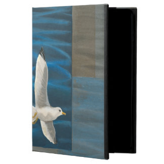 Three White Seagulls Flying Over the Water iPad Air Cases