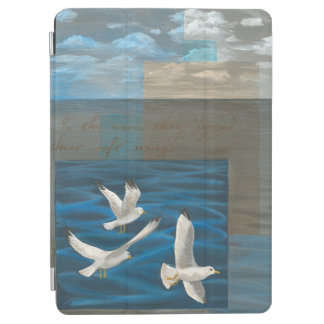Three White Seagulls Flying Over the Water iPad Air Cover