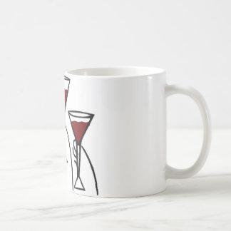 Three Wine Glasses in Hands Cartoon Mugs