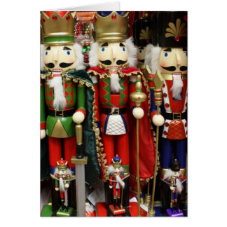 Three Wise Crackers - ChristmasNutcracker Soldiers Greeting Card
