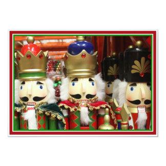 Three Wise Crackers - Nutcracker Soldiers 13 Cm X 18 Cm Invitation Card