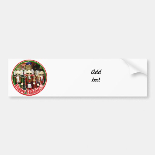 Three Wise Crackers - Nutcracker Soldiers Bumper Stickers