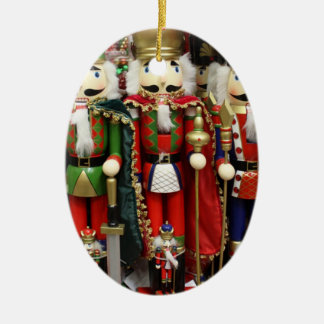 Three Wise Crackers - Nutcracker Soldiers Ceramic Oval Decoration