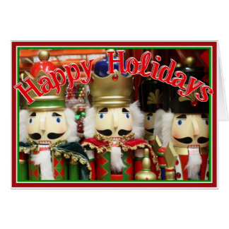 Three Wise Crackers - Nutcracker Soldiers Greeting Card