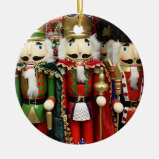 Three Wise Crackers - Nutcracker Soldiers Round Ceramic Decoration