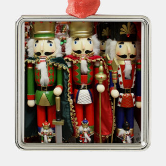 Three Wise Crackers - Nutcracker Soldiers Silver-Colored Square Decoration