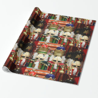 Three Wise Crackers - Nutcracker Soldiers Wrapping Paper
