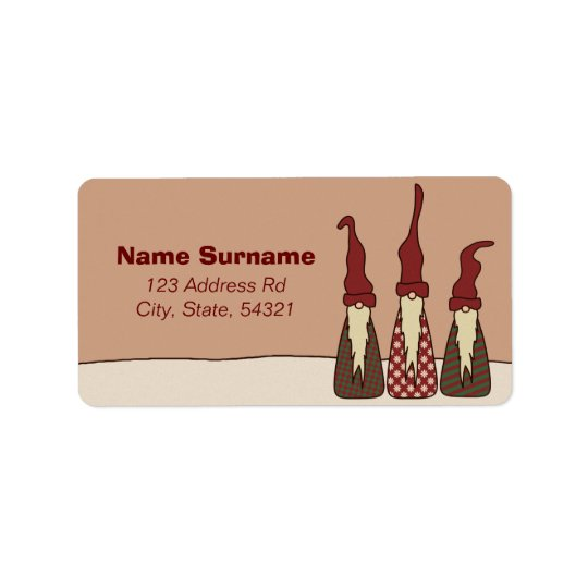 Three Wise Elves, address labels